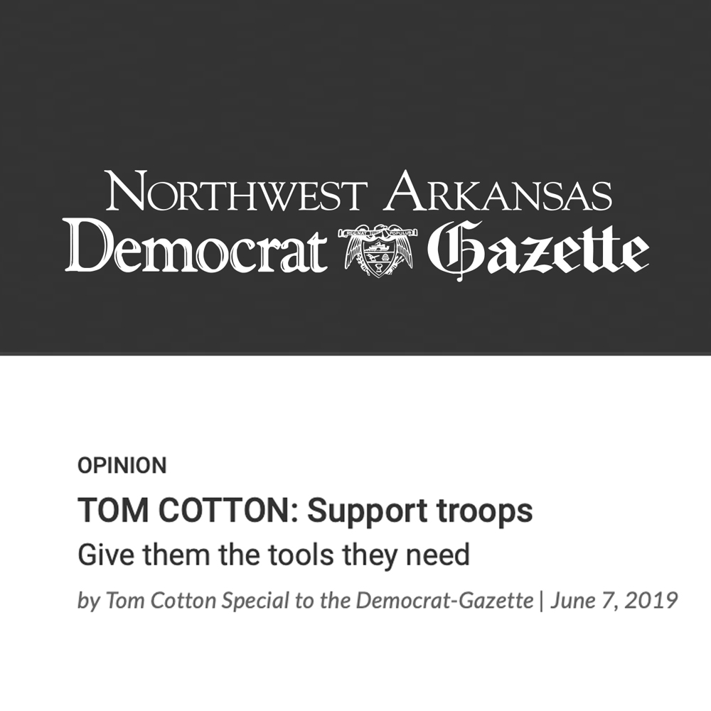 TOM COTTON: Support troops